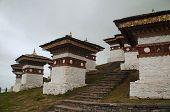Stupas In Dochula Pass, A Mountain Pass Of Bhutan poster