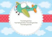 Baby boy airplane toy invitation