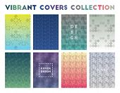 Vibrant Covers Collection. Alive Geometric Patterns, Dazzling Vector Illustration. poster
