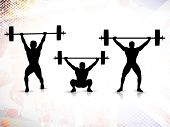 image of weight lifter  - Sequence of weight lifting - JPG