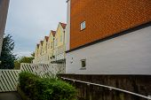 Odense, Denmark: Traditional Historic House In Odense, Denmark Hc Andersens Hometown. Facade On A H poster