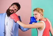 Couple In Love Competing In Boxing. Conflict Concept. Gender Battle. Gender Equal Rights. Family Qua poster