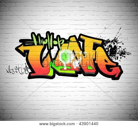 Graffiti wall background, urban art