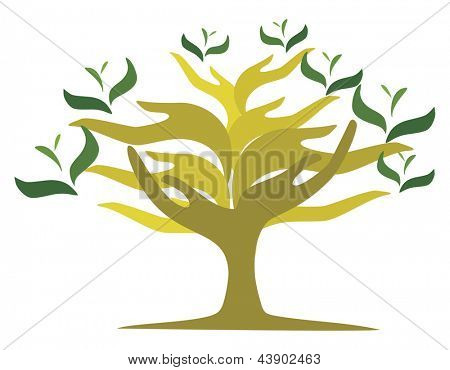 Tree of open hands