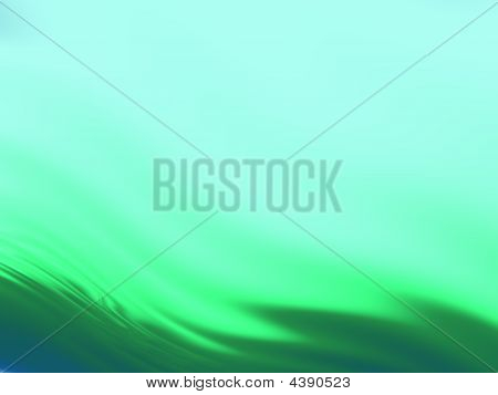 Abstract Wavy Background In Green And Teal