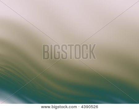 Abstract Wavy Background In Tan And Teal