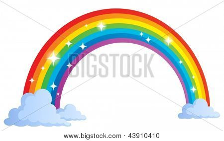 Image with rainbow theme 1 - eps10 vector illustration.
