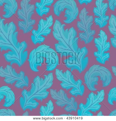 Leafy seamless background 2 - eps10 vector illustration.