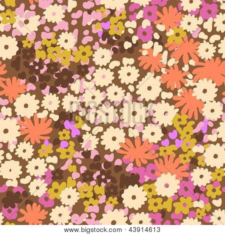 ditsy popcorn floral seamless background
