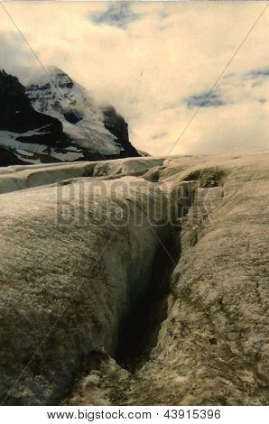 Crevasse - Athabasca Glacier