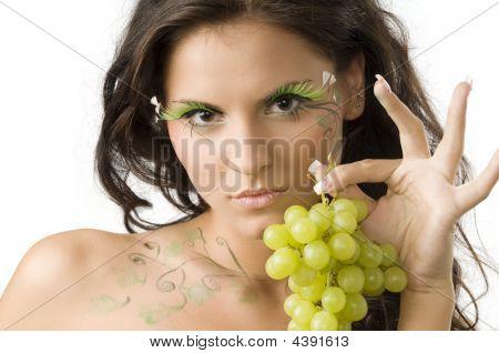 Leaf And Eyelashes