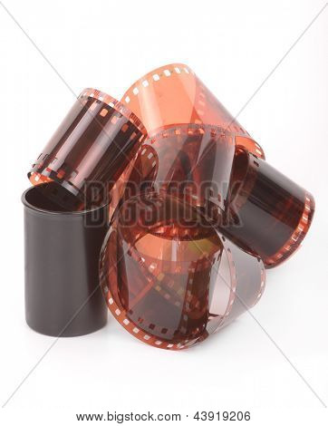 Old 35 mm negative film strip
