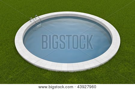Pool on the grass