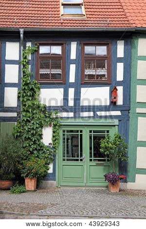Crooked Half-timbered House In The Uckermark
