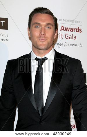 LOS ANGELES - MAR 23:  Owain Yeoman arrives at the 2013 Genesis Awards Benefit Gala at the Beverly Hilton Hotel on March 23, 2013 in Beverly Hills, CA