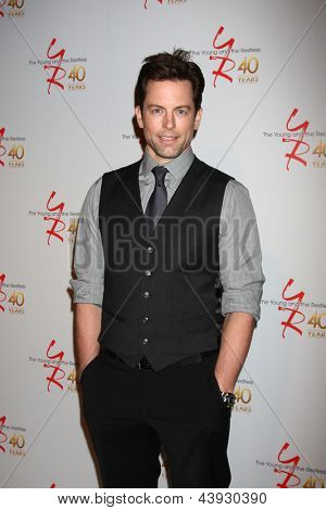 LOS ANGELES - MAR 26:  Michael Muhney attends the 40th Anniversary of the Young and the Restless Celebration at the CBS Television City on March 26, 2013 in Los Angeles, CA