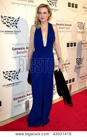 LOS ANGELES - MAR 23:  Elaine Hendrix arrives at the 2013 Genesis Awards Benefit Gala at the Beverly Hilton Hotel on March 23, 2013 in Beverly Hills, CA