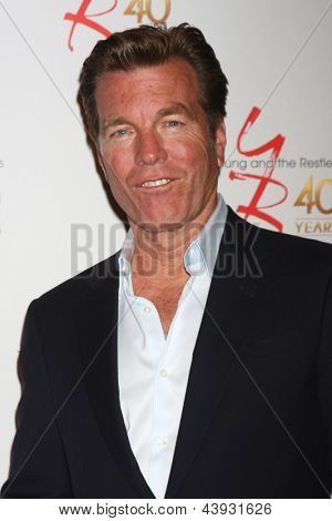 LOS ANGELES - MAR 26:  Peter Bergman attends the 40th Anniversary of the Young and the Restless Celebration at the CBS Television City on March 26, 2013 in Los Angeles, CA