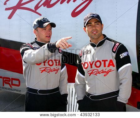 LOS ANGELES - MAR 23:  Brett Davern, Jesse Metcalfe at the 37th Annual Toyota Pro/Celebrity Race training at the Willow Springs International Speedway on March 23, 2013 in Rosamond, CA