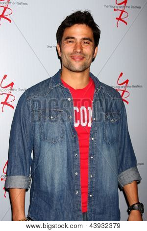 LOS ANGELES - FEB 27:  Ignacio Serricchio at the Hot New Faces of the Young and the Restless press event at the CBS Television City on February 27, 2013 in Los Angeles, CA
