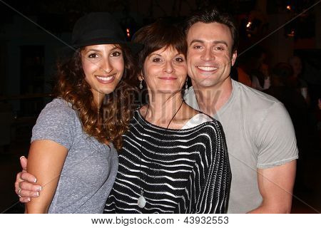 LOS ANGELES - MAR 26:  Christel Khalil, Jill Farren Phelps, Daniel Goddard attends the 40th Anniversary of the Young and the Restless at the CBS Television City on March 26, 2013 in Los Angeles, CA