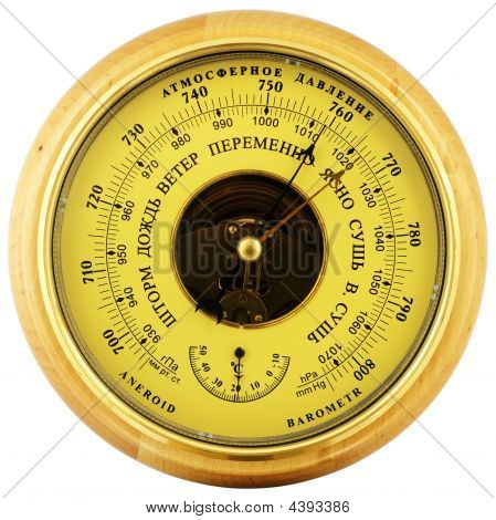 Aneroid Barometer Above View