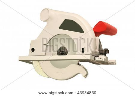 circular saw under the white background