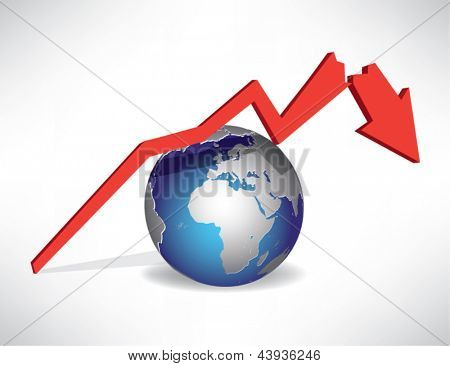 Background concept of World Recession