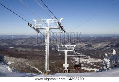 Winter  Gondolas Going Down The Mountain 01 All