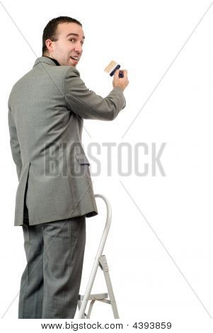 Painting Businessman