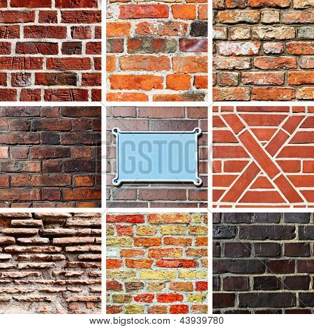 Collection of various brickwork textures