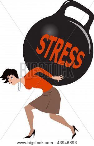 Mujer bajo estrés
