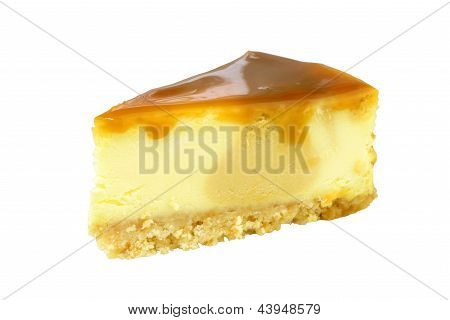 Cheesecake Isolated On White Background