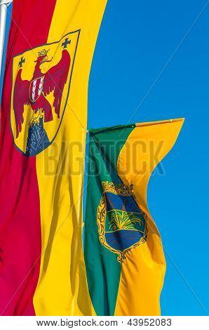 Foto de primer plano de una bandera