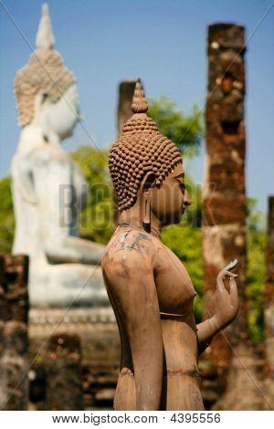 Standing Buddha In Sukhotai, Thailand