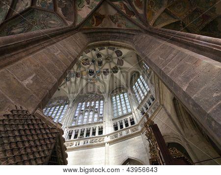 Pointed Vault Of Saint Barbara Church