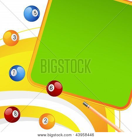 Colorful Snooker Ball