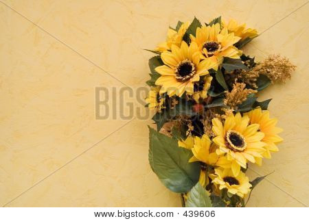 Sunflowers W/ Space For Tex