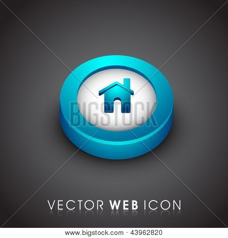 Glossy 3D web 2.0 home or homepage symbol icon. EPS 10.