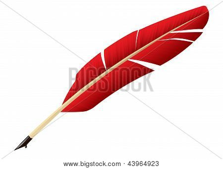 Red Feather pen