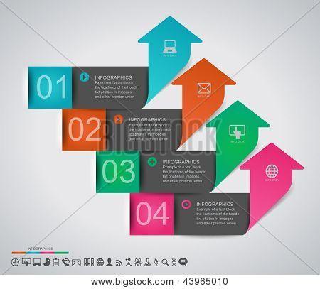 Abstrakte Infografiken gestalten mit nummerierten Etiketten - Vektor-Illustration-Papier. Diese Arbeit - eps10 vec