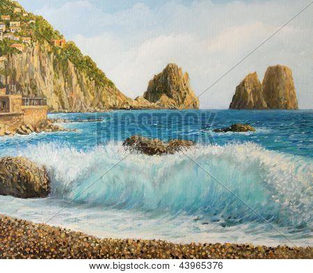 Faraglioni on Island Capri