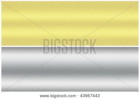 Gold and silver brushed as background