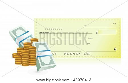 Checkbook And Business Profits Illustration