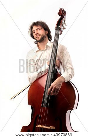 musician with double-bass