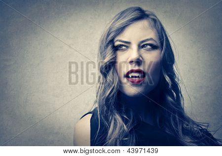 portrait of vampire woman