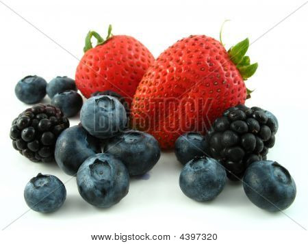 Mixed Berries Isolated On White