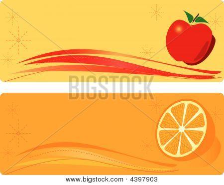 Apple And Orange Banner