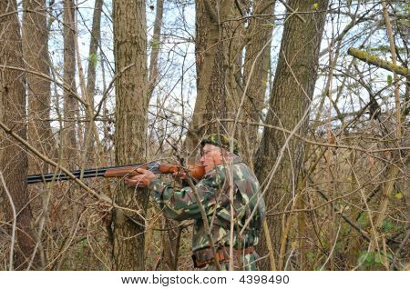 Man Aiming For Shot