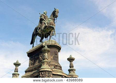 Statue of King John of Saxony in Dresden, Germany
